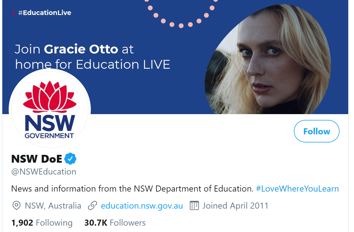 NSW Department of Education Twitter